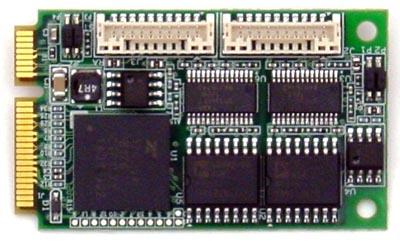 MiniCard PCIe opto-aislada de cuatro puertos