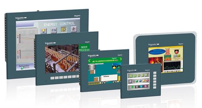 Displays HMI de pantalla táctil
