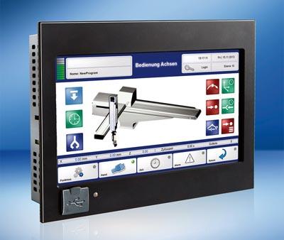 control panel con pantalla táctil