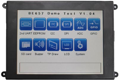 Display con microprocesador de 32 bit