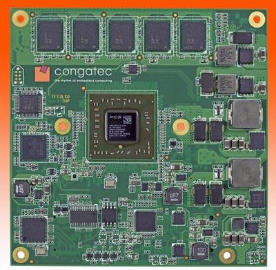 conga-TCG es un módulo COM Express con patillaje tipo 6 en formato compacto, de 95 × 95 mm2.