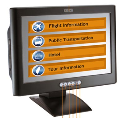 panel PC táctil con diseño IPX1