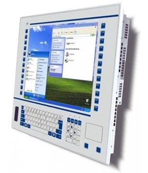 Monitor táctil con teclado incorporado