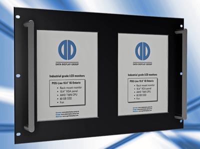 Monitores industriales para montaje en rack
