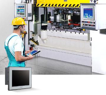 """Solución HMI con panel PC táctil de 8"""""""