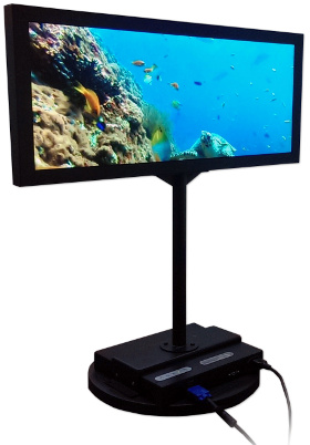 Monitor de doble cara y 29.3""