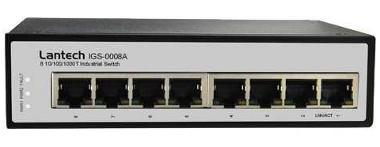 Switch no gestionado con ocho puertos Ethernet
