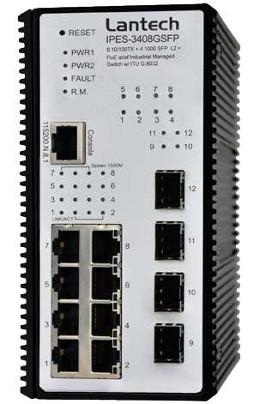 Switch industrial gestionado para redes en anillo