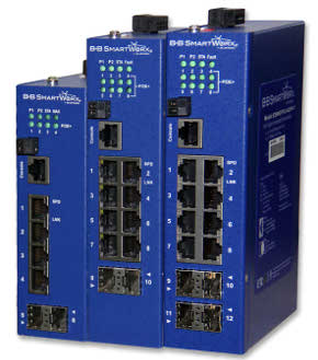 Switches PoE+ con puertos SFP