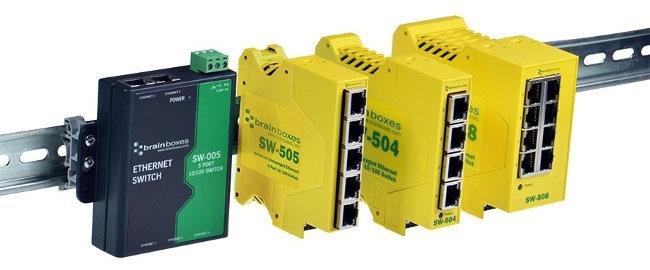 Switch de 8 puertos de fácil instalación