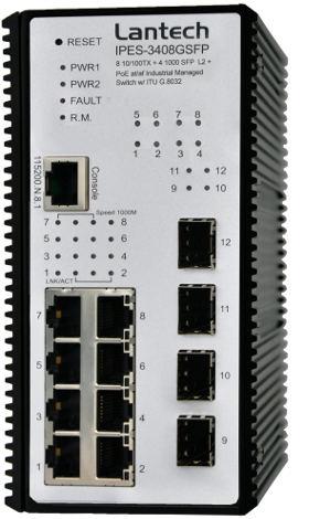 Switch industrial gestionado PoE