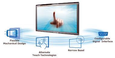 Monitores industriales táctiles rugerizados