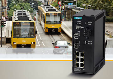 Switch Ethernet compacto para transportes