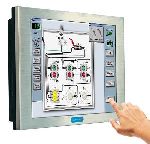 Panel PC metálico con pantalla táctil