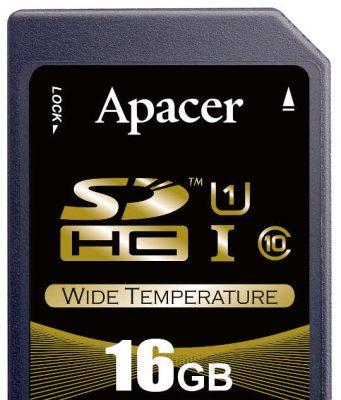 Tarjetas industriales microSD y SD