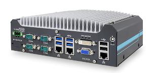 Box PC con puertos frontales de E/S
