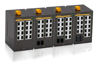 Switches industriales de 20 puertos Gigabit
