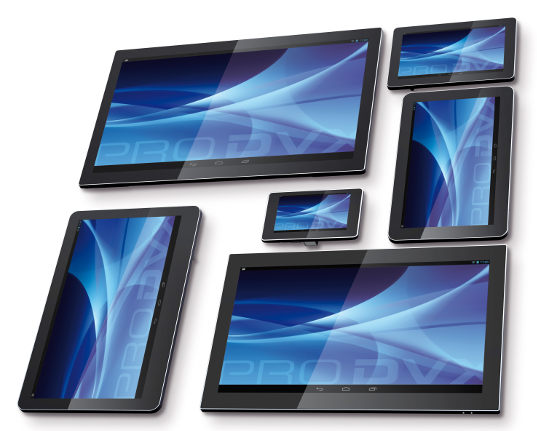 Tablets PC táctiles bajo Android