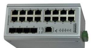 Switch gestionado Gigabit con puertos de cobre y fibra