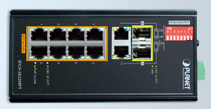 Switch Gigabit Ethernet con PoE+