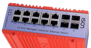 Switches de 14 puertos Gigabit industriales
