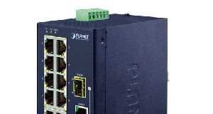 Switch Ethernet industrial con puertos 10/100TX y Gigabit