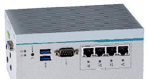 Edge computer para carril DIN con cuatro puertos PoE