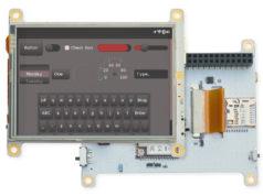 Placa de desarrollo y pantalla táctil con Linux