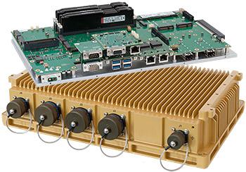 Servidor industrial fanless con puertos de red de 10 Gbps