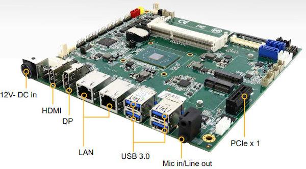 Placa industrial Mini-ITX con vídeo de alta resolución
