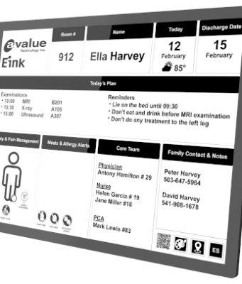 Monitor de tinta electrónica para electromedicina