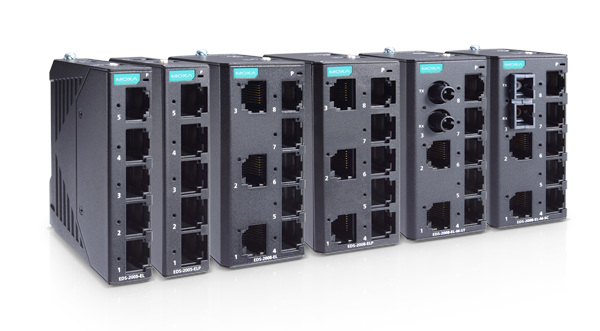 Switches no gestionados Ethernet industriales