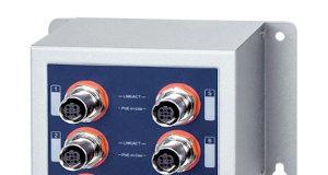 Switch con 8 puertos PoE+ M12 10/100TX