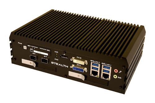 Box PC con dos bahías de disco extraíbles y sin ventilador