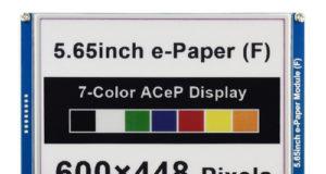 Pantalla de tinta electrónica a color