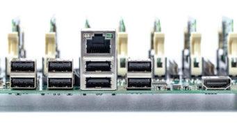Tarjeta clúster Raspberry Pi CM3 de siete slots