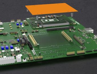 Placa carrier para PICMG COM-HPC