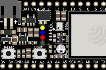 Placa Feather Wi-Fi ESP32-S2 TFT de montaje en panel