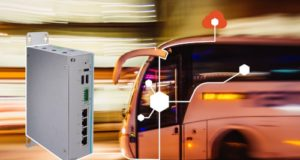 UST210-83K-FL Gateway IoT sin ventilador para carril DIN en vehículos