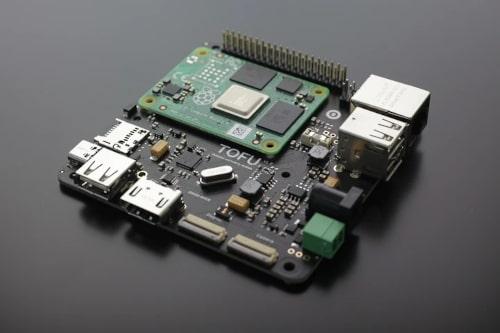 Tofu Tarjeta portadora para Raspberry Pi CM4 con M.2 y GbE PoE