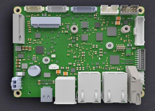 """La tarjeta Pico-ITX ofrece una amplia capacidad de elección de interfaces a pesar de su pequeño formato de 2.5""""."""