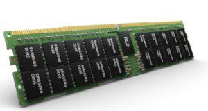 Módulo DDR5 de 512 GB con estructura de TSV de ocho capas