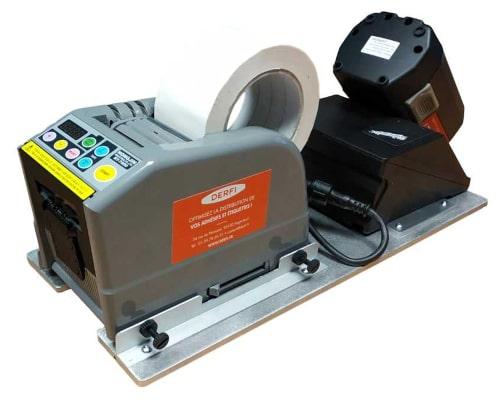 Dispensador de cintas adhesivas para embalajes industriales