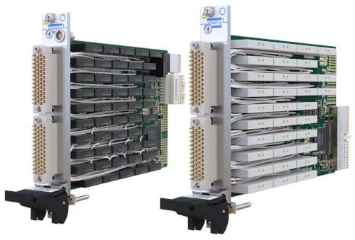 Módulos de relé de potencia de 5 A en formatos PXI y PXIe