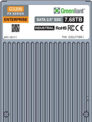 """G3200 PX SSD de 2.5"""" SATA de hasta 7,68 TB para entornos industriales"""